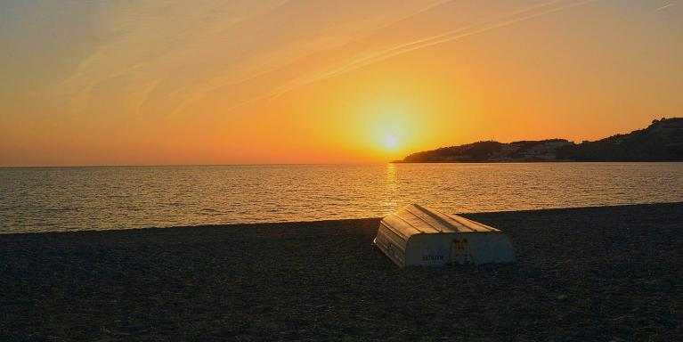Sunset on La Herradura beach